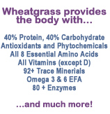 Wheatgrass information